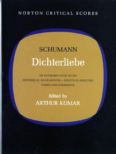 9780393099041: Dichterliebe (Norton Critical Scores)