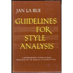 9780393099461: Guidelines for Style Analysis