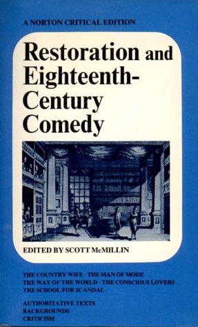 9780393099973: Restoration and Eighteenth-Century Comedy (Norton Critical Edition)