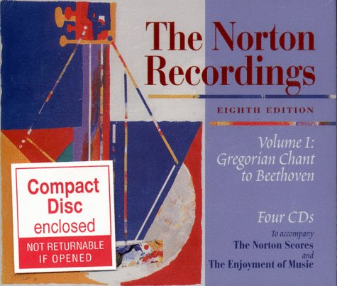 9780393102505: The Norton Recordings Volume I: Gregorian Chant to Beethoven Four CD Set