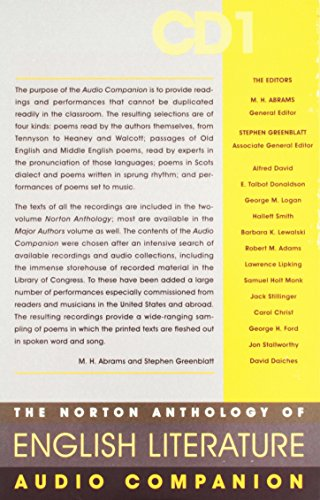 9780393103625: The Norton Anthology of English Literature: v. 1
