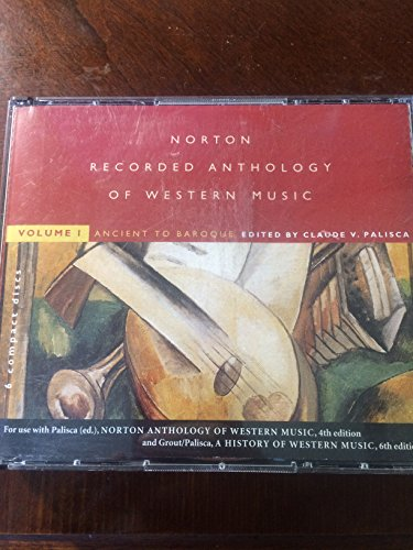 9780393103663: Norton Recorded Anthology of Western Music: Ancient to Baroque Vol 1