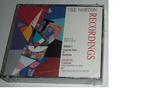 9780393104974: The Norton Recordings: Gregorian Chant to Beethoven (Norton Recordings for the Norton Scores & Enjoyment of Music)