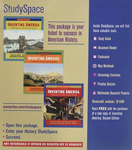 9780393108811: Studyspace-inventing America-access Code