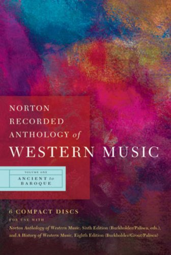 9780393113099: Norton Recorded Anthology of Western Music: 1 (Ancient to Baroque)