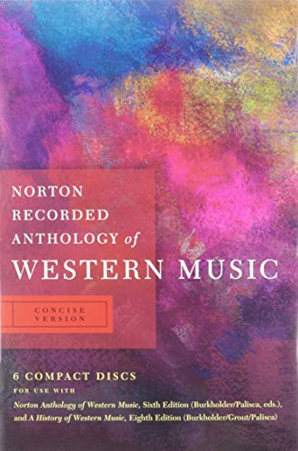 9780393113129: Norton Recorded Anthology of Western Music (Sixth Edition) (Vol. Concise Version)