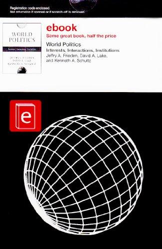 9780393114881: World Politics: Interests, Interactions, Institutions, eBook Folder