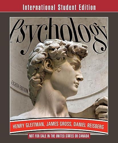 9780393116823: Psychology (Eighth International Student Edition)