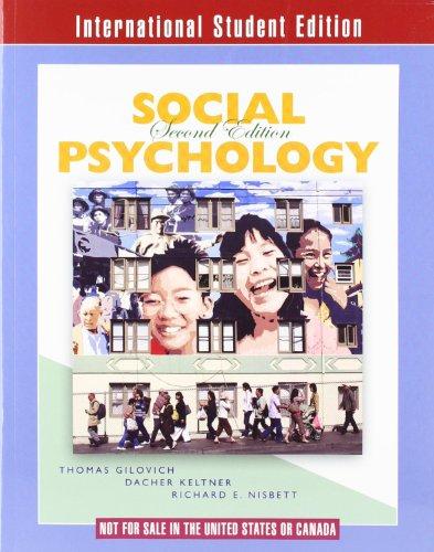 9780393117301: Social Psychology