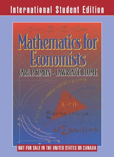 9780393117523: Mathematics for Economists (International Student Edition)