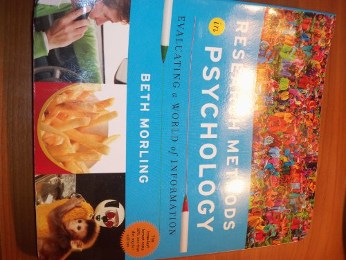 9780393123586: Research Methods in Psychology Evaluating a World of Information
