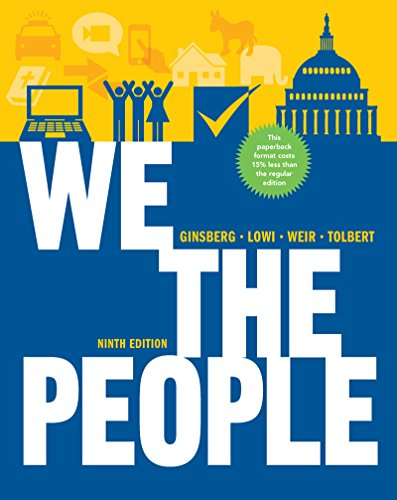 9780393124361 We The People An Introduction To American Politics 9th Edition