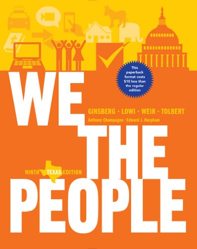 9780393124385: We the People: An Introduction to American Politics (Ninth Texas Edition)