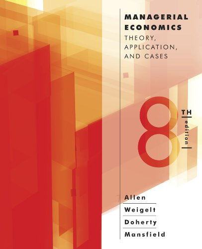 9780393124491: Managerial Economics: Theory, Applications, and Cases (Eighth Edition)