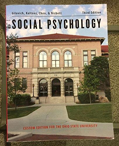 9780393137736: Social Psychology - Custom for Ohio State