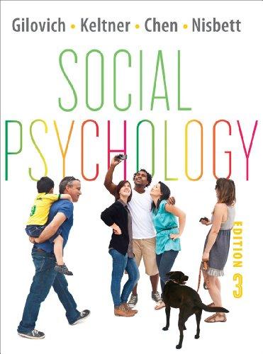 9780393138474: Social Psychology