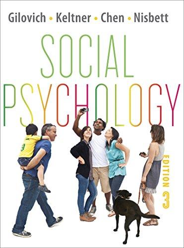 9780393138481: Social Psychology (Third Edition)