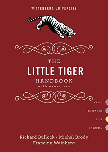 9780393250619: The Little Tiger Handbook with Exercises, Wittenberg University