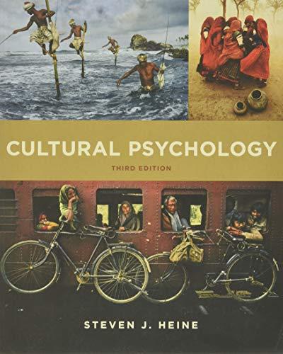 9780393263985: Cultural Psychology
