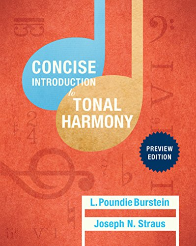 9780393264777: Concise Introduction to Tonal Harmony: Preview Edition (Class Test Edition)