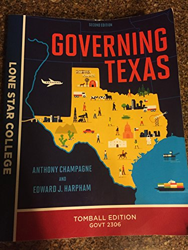 9780393277388: Governing Texas (second edition)-Tomball Edition GOVT 2306