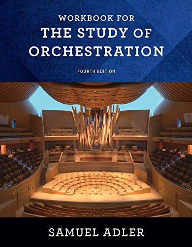 9780393283174: The Study of Orchestration. Workbook