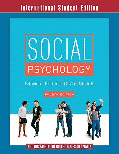 9780393283532: Social Psychology