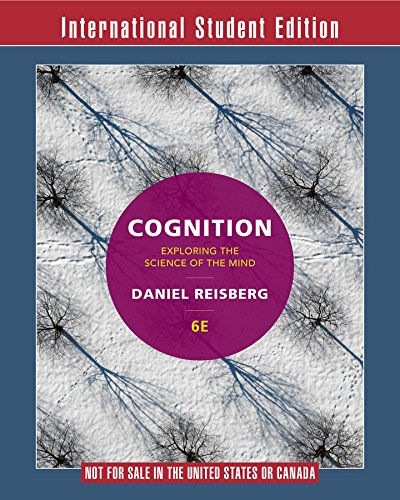 9780393283693: Cognition Exploring the Science of the Mind 6E International Student Edition+zaps Psychology Labs Card