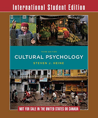 9780393283709: Cultural Psychology