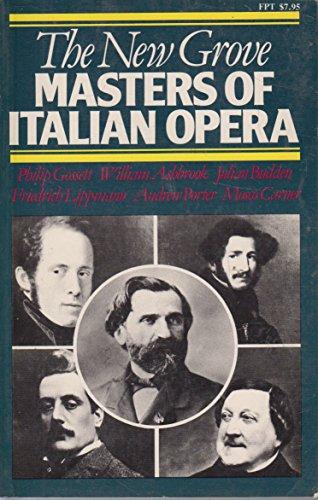 9780393300895: The New Grove Masters of Italian Opera: Rossini, Donizetti, Bellin I, Verdi, Puccini