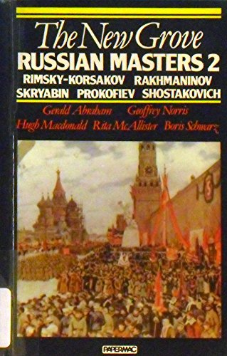 9780393301021: The New Grove Russian Masters, I: Glinka, Borodin, Balakirev, Musorgsky, Tchaikowvsky (New Grove Biography Series)