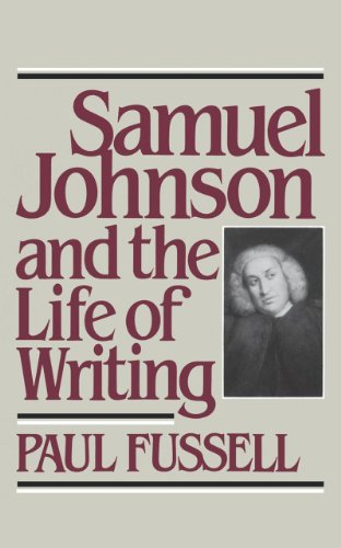 9780393302585: Samuel Johnson and the Life of Writing