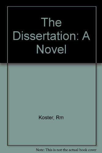 9780393306484: The Dissertation: A Novel (Norton paperback fiction)