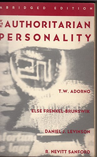 9780393311129: The Authoritarian Personality (Studies in Prejudice)