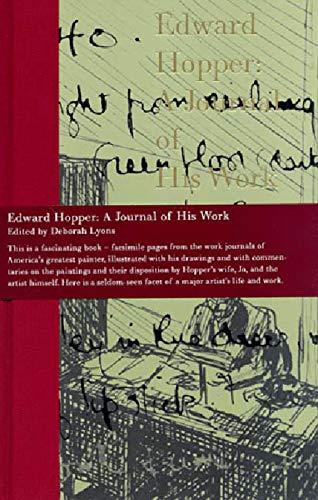 9780393313307: Edward Hopper: A Journal of His Work