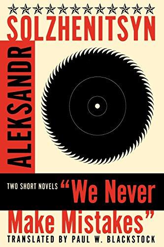 9780393314748: We Never Make Mistakes: Two Short Novels