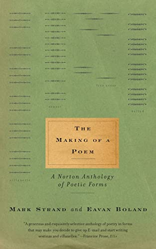 9780393321784: Making of a Poem: A Norton Anthology of Poetic Forms