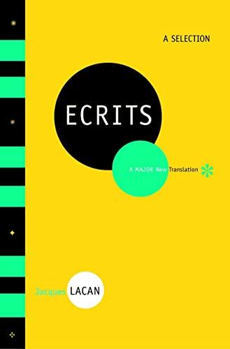 Ecrits – A Selection: Lacan, Jacques/ Fink,