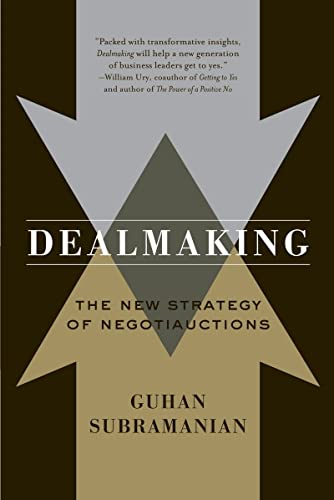 Dealmaking: New Dealmaking Strategies for a Competitive Marketplace: Subramanian, Guhan