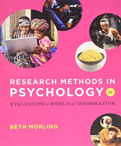 9780393571615: Research Methods in Psychology 8211