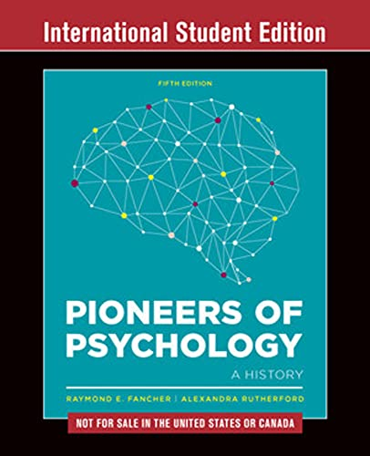 9780393603675: Pioneers of Psychology: Not for Sale in the United States or Canada