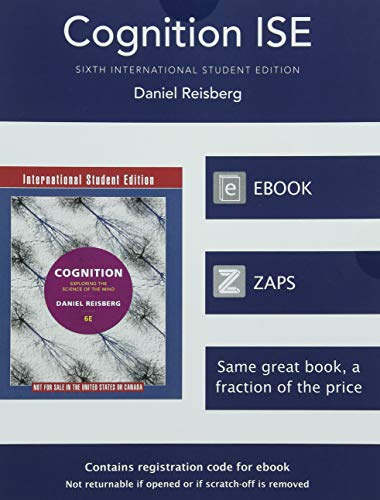 9780393605174: Cognition Exploring the Science of the Mind 6E International Student Edition+zaps Psychology Labs Card