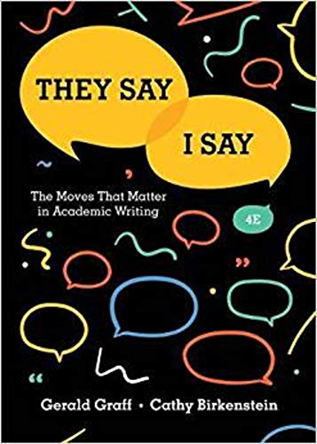 9780393631678: They Say / I Say: The Moves That Matter in Academic Writing