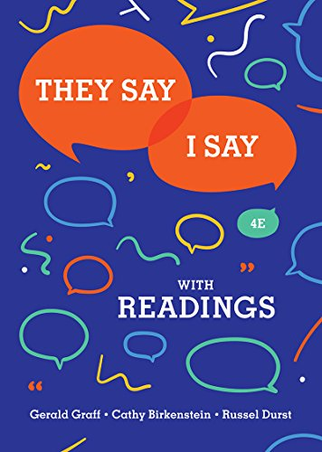 9780393631685: They Say / I Say: The Moves That Matter in Academic Writing with Readings (Fourth Edition)