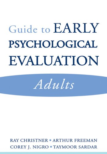 9780393705386: Guide to Early Psychological Evaluation: Adults