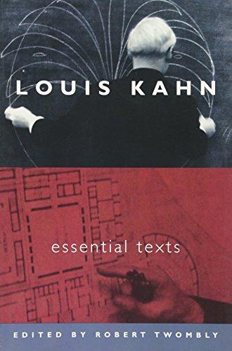 9780393731132: Louis Kahn: Essential Texts