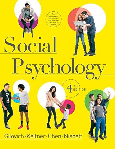 9780393906073: Social Psychology (Fourth Edition)