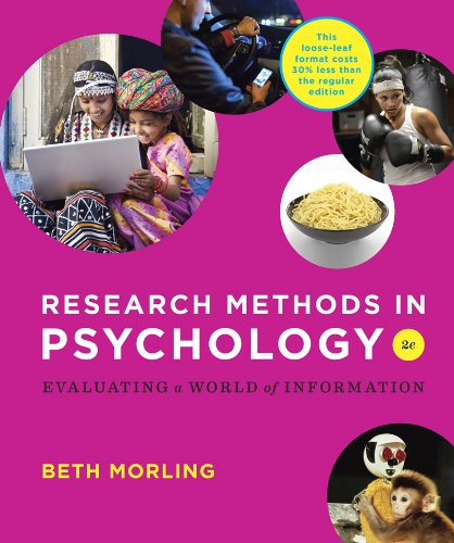 9780393906103: Research Methods in Psychology: Evaluating a World of Information (Second Edition)