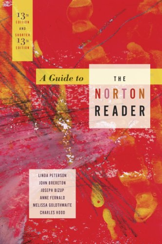 9780393912364: A Guide to The Norton Reader 13th Edition