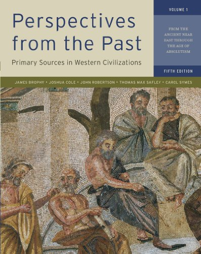 9780393912944: Perspectives from the Past, Vol. 1, 5th Edition: Primary Sources in Western Civilizations - From the Ancient Near East through the Age of Absolutism